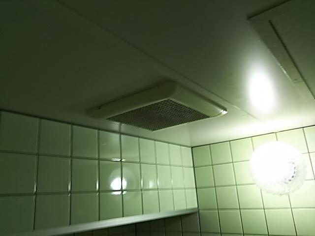 浴室換気扇取替前