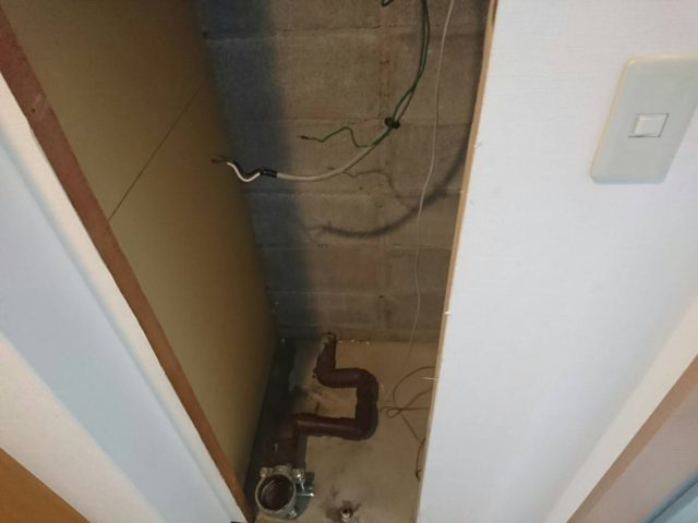 電気温水器撤去後