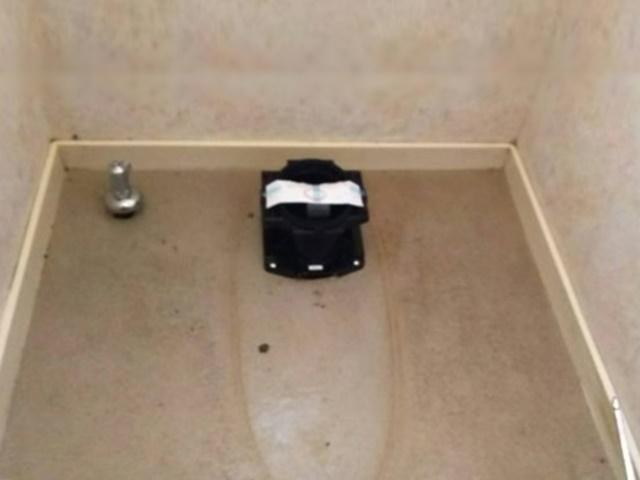 トイレ撤去後