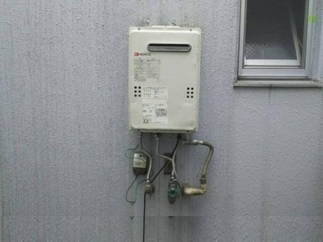 仮のガス給湯器