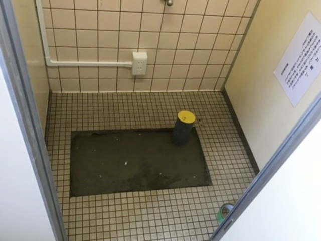 和式トイレ撤去後