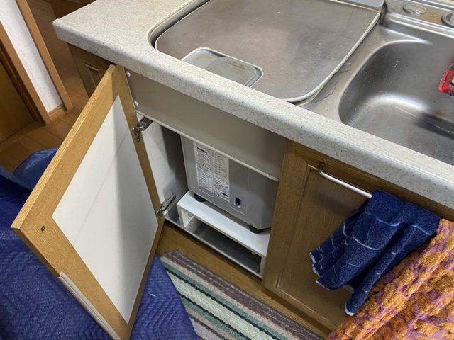 既設三菱トップオーブン食洗機