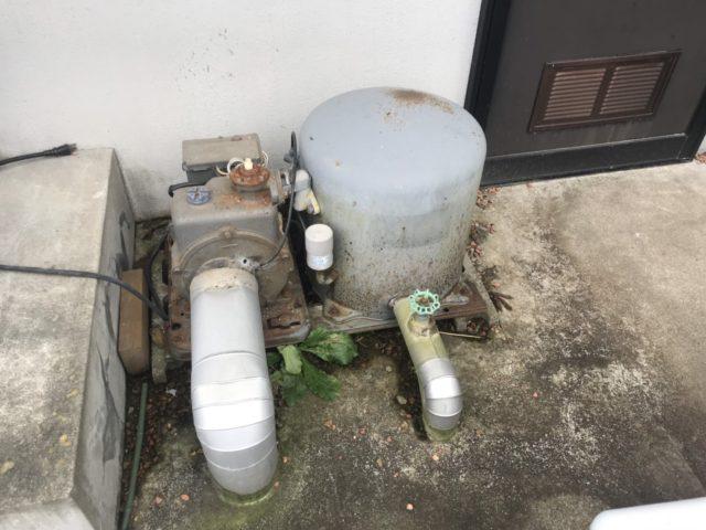 既設浅深兼用井戸ポンプ