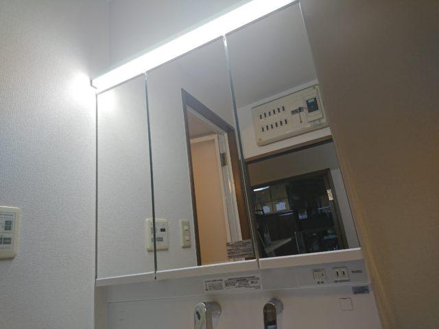 サクア ワイドLED照明三面鏡