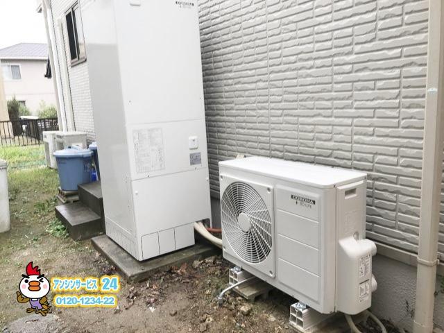 コロナ エコキュートCHP-E37AX5取替工事 岡崎市