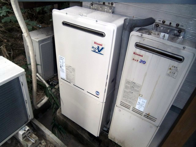 名古屋市守山区 リンナイ給湯器交換工事