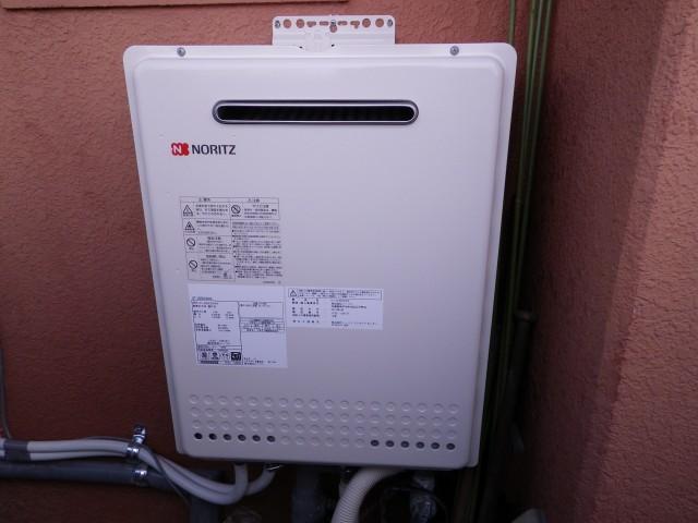 名古屋市北区ノーリツガス給湯器取替工事+循環金具取り付け工事