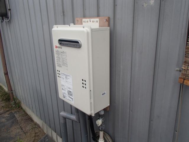 岡崎市 石油給湯器からノーリツ(NORITZ)ガス給湯器(GQ-2039WS)へ取替工事
