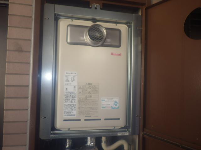 瀬戸市北脇町リピーター様からのご依頼でリンナイガス給湯器RUX-A1611T-E取付工事