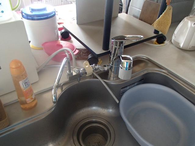 キッチン水栓取替工事(名古屋市守山区城土町)