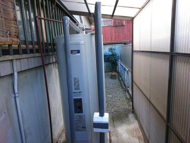 半田市電気温水器交換工事(三菱SRG-375G)