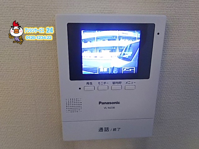 東京都葛飾区インターフォン交換工事(パナソニックVL-SZ30KL)