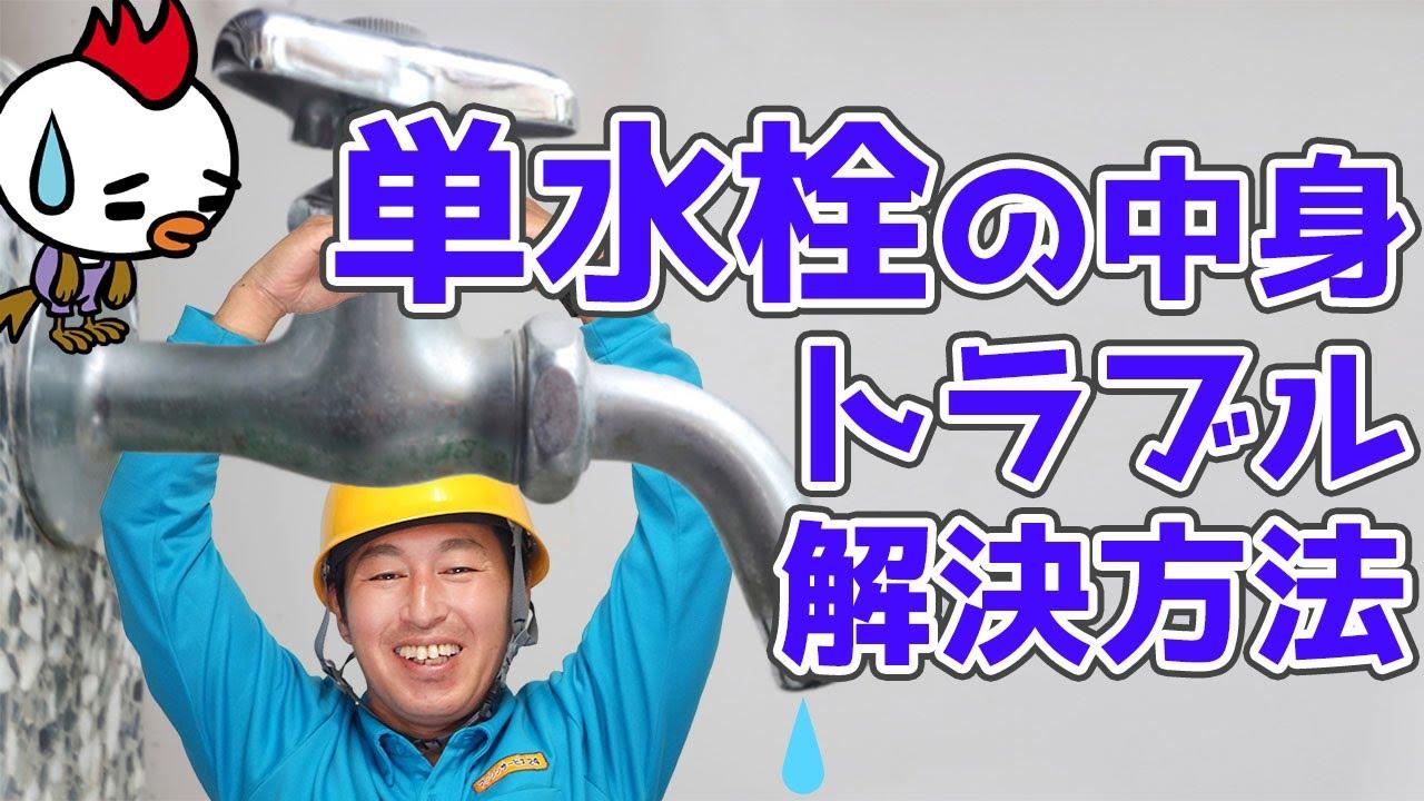 単水栓の中身とトラブルと解決方法