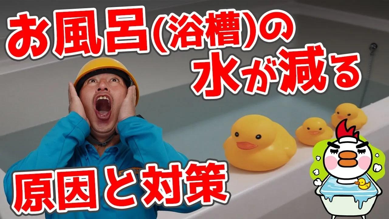 お風呂(浴槽)の水が減る原因と対策